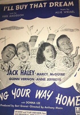 I'll Buy That Dream Song From Sing Your Way Home Vintage Sheet Music