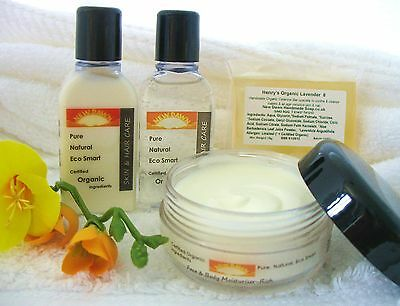 NEW BORN BABY ORGANIC SKIN & HAIR CARE SAMPLE or GIFT SET - Handmade by New Dawn