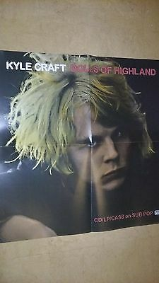 POSTER lot by KYLE CRAFT dolls of highland For the bands new tour promo album cd