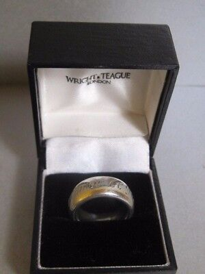 WRIGHT & TEAGUE Sterling Silver AMICUS Men Ring Boxed 1997
