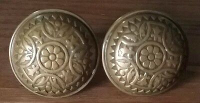 Antique Vintage Ornate Brass Door Handles/Knobs