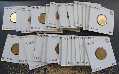 Morocco 10 Santimat AH1394, 1974, Dealer Lot of 38 Uncirculated FAO Coins, Y# 60