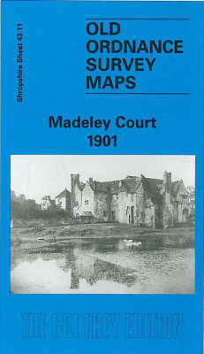 Old Ordnance Survey Map Madeley Court 1901 Halesfield Colliery Cuckoo Oak