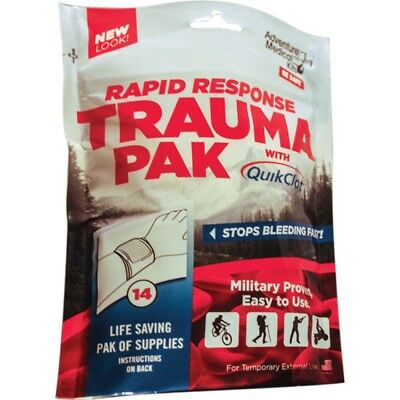 Adventure Medical Kits 2064-0294 Rapid Response Trauma Pak with QuikClot