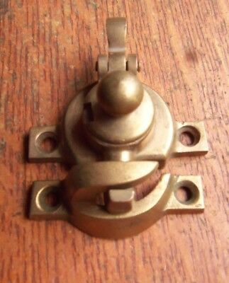 Antique Victorian Tea Pot Cast Bronze Window Sash Lock c1895