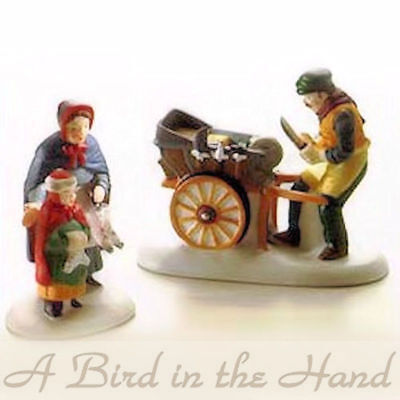 Dept 56 KNIFE GRINDER, Set of 2, Heritage Village, New in Box, #5649-9