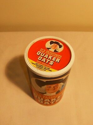 Vintage Quaker Oats cardboard container 1988