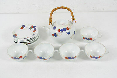 Compliments Of N.Y.K. Hand Painted Line Porcelain Tea Set