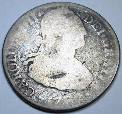 1700's SPANISH 2 TWO REALE COIN SPAIN PIECE OF 8 PIRATE SHIPWRECK TREASURE?