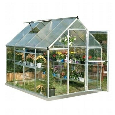 Palram HG5508 Nature Hybrid 6 x 8 ft. Greenhouse, Silver