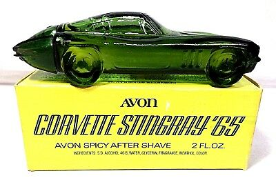 Avon 1965 Corvette Stingray Decanter, original box, excellent condition.