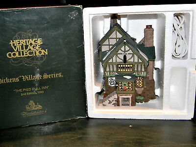 """Dept 56 """"THE PIED BULL INN"""" 2nd Edition 1993 Dickens Village Heritage Collection"""