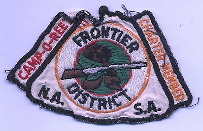 Vintage BSA Boy Scouts CAMP-O-REE Frontier District Charter Member PATCH