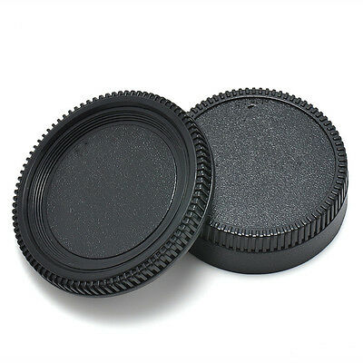 Black Body Front + Rear Lens Cap Cover For Nikon AF AF-S Lens DSLR SLR Camera TR