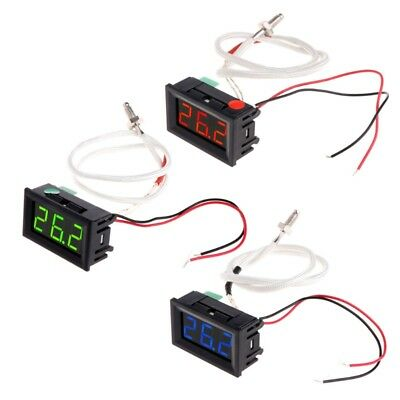 XH-B310 Digital Thermometer 12V Temperature Meter K-type M6 Thermocouple Teste