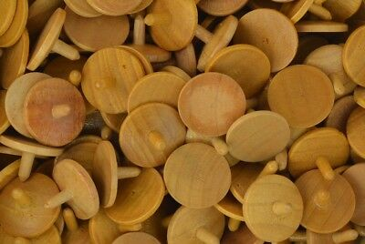 Wooden Golf Ball Markers / Spotters x 50 Pack