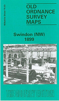 Old Ordnance Survey Map Swindon Nw 1899 St Marks Church Rodbourne Road