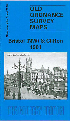 Old Ordnance Survey Map Bristol Nw Clifton Cotham Colston Hall Cabot Tower 1901