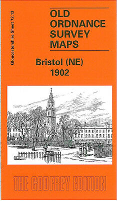 Old Ordnance Survey Map Bristol Ne 1902 Easton Portland Square Baptist Mills