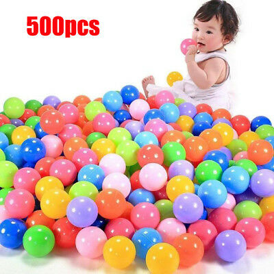 500pcs Colorful Ball Fun Ball Soft Plastic Ocean Ball Baby Kid Toy Swim Pit Toy