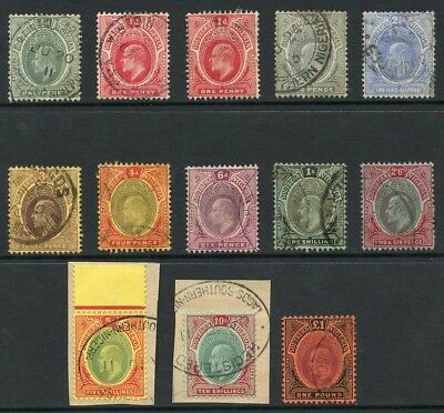 SOUTHERN NIGERIA SG33/44 KEVII Set to One Pound fine used
