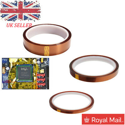 5/10/20mm -33m High Temperature Heat Resistant Polyimide Tape Brown Tape UK