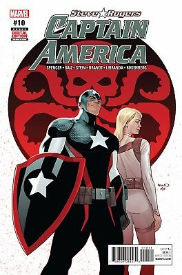 CAPTAIN AMERICA STEVE ROGERS #10, New, First print, Marvel NOW (2016)