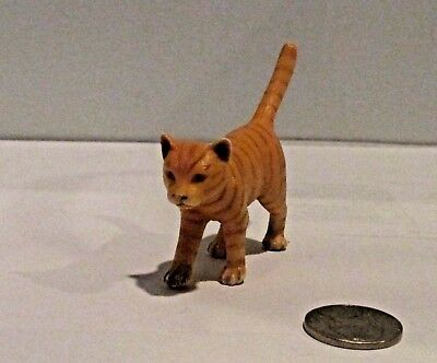 Schleich Orange Striped Cat Walking Retired 13286