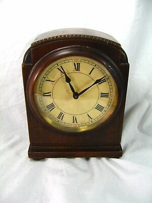 Antique Small Desktop / Mantel Clock By HAC Of Germany Mechanical Wind-Up Works