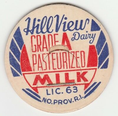 Milk Bottle Cap. Hill View Dairy. North Providence, Ri.