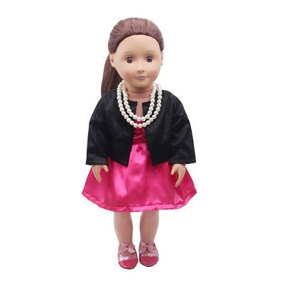 "Clothes For 18"" American Girl Our Generation My Life Doll Rose Party Dress"