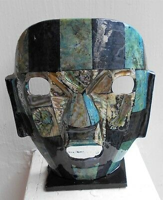 Vintage Abalone Mayan Death Mask - From Mexico