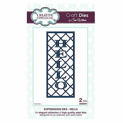 Craft Dies CED5401 Sue Wilson Expressions Kollektion - Hello