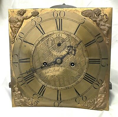 Brass  Dial / Movement Grandfather Long Case Clock Early  JOSEPH PARK LIVERPOOL