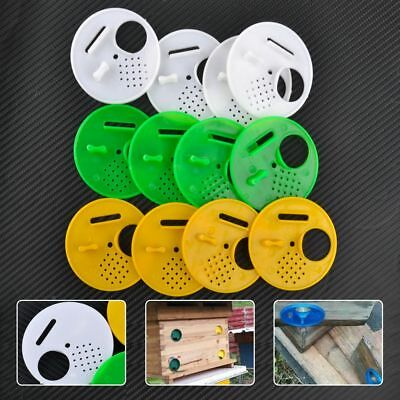 12X Plastic Beekeepers Bee Hive Nuc Box Entrance Gates Beekeeping Equip Tool
