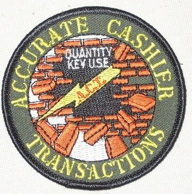Home Depot Accurate Cashier Transactions Patch THD Quality Key Use   A. C. T.