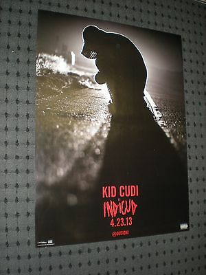 POSTER by KID CUDI indicud for the 2013 release tour promo album cd