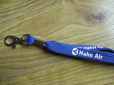 blaues Hahn Air Schlüsselband Cock Airlines lanyard