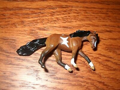 Breyer Mini Whinny Horse - Bay Pinto Tennessee Walking Horse Mare - Running Walk
