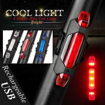 5LED Rechargeable Bike Bicycle Cycling Tail Rear USB Light Safety Warning Lamp