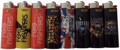 8pc SET ROCK ROYALTY BIC LIGHTERS nirvana sumblime megadeath foo fighters music