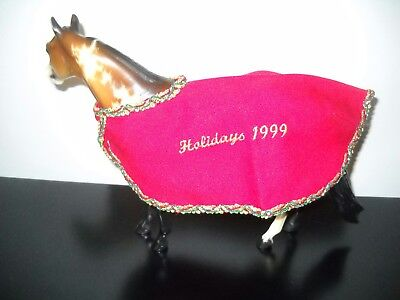 Peter Stone Traditional Scale Model Horse Blanket - Holidays 1999 - Fits Breyer