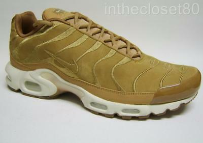 0d5c7dd1c0 Nike Air Max Plus EF Tn Tuned 1 Flax Wheat Brown Tan Nubuck Leather AH9697  202