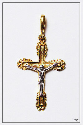 Orthodox Silver Gold Cross Pendant Jc Jesus Christ Crucifix (T15)
