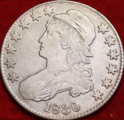 1830 Philadelphia Mint Silver Capped Bust Half Dollar Free S/H