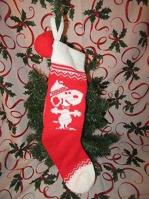 Vintage Peanuts Gang SNOOPY Knit Stocking