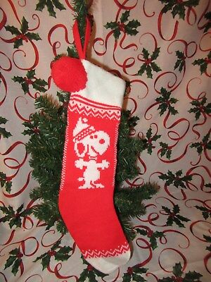 Vintage Peanuts Gang SNOOPY Knit Stocking #2