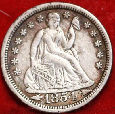 1854-O New Orleans Mint Silver Seated Liberty Dime Free Shipping