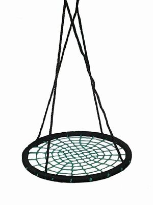 NEST SWING ROUND Childrens Web Swing Seat Spider Group Cubby House Net swing set