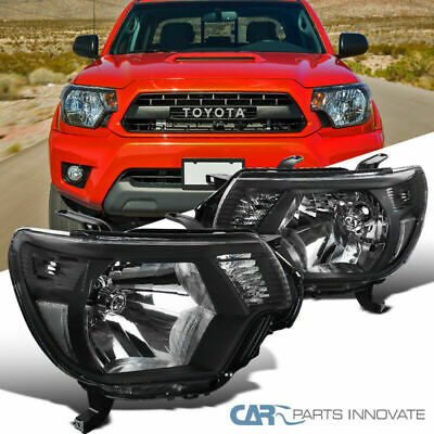 For 12-15 Toyota Tacoma Pickup Black Headlights Corner Signal Lamps Left+Right